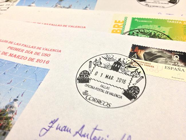 Correos pone hoy en circulaci n un matasellos dedicado a for Oficina de correos valencia